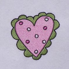Polka Dotted Heart for a 4 Inch Hoop Machine by JaLeiEmporium
