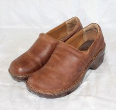 18618c237e3 BOC Born Concept Brown Leather Clog shoes