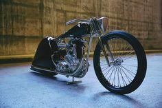 Artwork disguising itself as a motorcycle; 1949 BSA 5000by Max Hazan.