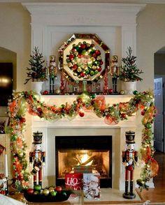 Noël et décoration de cheminée