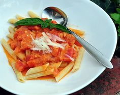 Fresh Tomato Sauce ♥ AVeggieVenture.com, how to make tomato sauce, not for canning, but fresh for supper with perfect summer tomatoes. Low Carb. Gluten Free.
