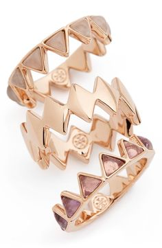These puzzle stacking rings from Tory Burch need a place in my life.