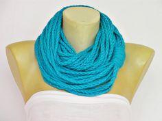crochet infinity scarf ,scarf,chain scarf,lariat scarf  /crochet /jewelery scarf /spring