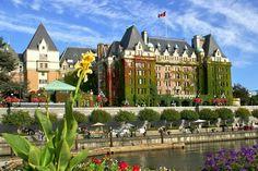 The empress Hotel, Victoria, Columbia Británica, Canada.