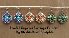 Beaded Empress Earrings Tutorial