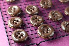 Peanut Butter Chocolate Button Cookies