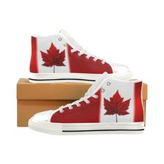 c17f8ad731 Back by Popular Demand - Canada Flag Hightop Sneakers Men s Classic High  Top Canvas Shoes Kim