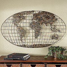 Old world map wall decal traditional home decor globe 4500 via world map wall sculpture gumiabroncs Image collections