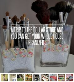 A Trip to the Dollar Store and You Can Get Your Whole House Organized ... → DIY