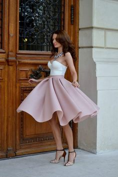 I love this skirt but I would wear a different shirt