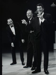Frank Sinatra, Bing Crosby, and Dean Martin photographed in 1963 by Gene Trindl. Three of the best.