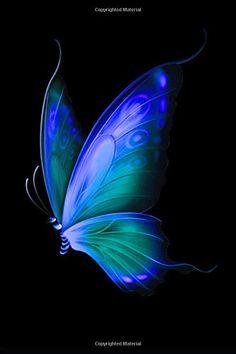 My Black Journal Blue Butterfly Pocket-Sized