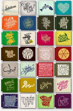 CD Typography by Mats Ottdal, via Behance