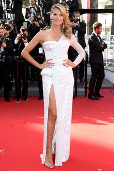 Heidi Klum attends the red carpet for the movie Nebraska during the 66th Cannes Film Festival 2013 in France - May 23, 2013 - Photo: Runway Manhattan/Bauer-Griffin