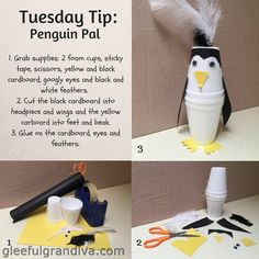 Make this cute little penguin in three easy steps. Learning Games For Preschoolers, Preschool Games, Learning Toys, Toddler Preschool, Toddler Crafts, Toddler Toys, Baby Toys, Fine Motor Skills, Pre School