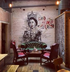 Client: God save the bean Coffee shop - #graffiti #design #interiordesign…