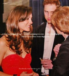 2006 (Exact Date Unknown) - William and Kate attending a party and talking to Lady Sarah McCorquodale, Princess Diana's sister.