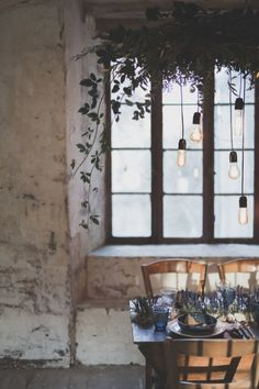 Winter table ➰ Wabi Sabi, Winter Table, French Countryside, Lavender Fields, Mademoiselle, Home Deco, Blog, Table Settings, Ceiling Lights