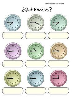 ¿Qué hora es? ejercicio 1