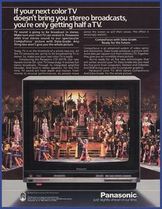 Home Theater Sound System, Home Theatre Sound, Vintage Television, Television Set, Box Tv, Old Ads, Film Posters, Tv Videos, Tvs