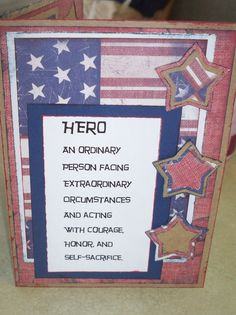 memorial day crafts | memorial day card i made for my uncle