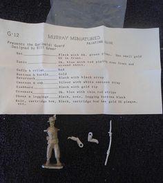 Murray #G-12 54mm Garibaldi Guard Soldier White Metal Military Figure #Murray