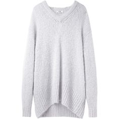 Acne Studios Essie V-Neck Knit (1 380 PLN) ❤ liked on Polyvore featuring tops, sweaters, jumper, v-neck sweater, v-neck pullover sweater, knit sweater, oversized pullover sweater and knit pullover