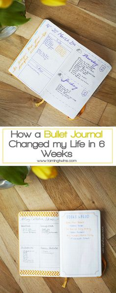 How a Bullet Journal Changed my Life in 6 Weeks - A peek inside the first 6 weeks of my bullet journal, including a video, my weekly spreads, monthly calendars, dailies, collections and other bits and bobs I am loving from my first bullet journal set up. | TamingTwins.com