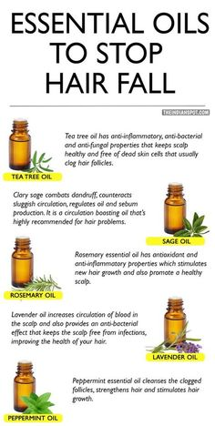 LIST OF ESSENTIAL OILS TO STOP HAIR FALL