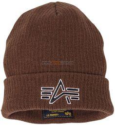 Шапка Knit Logo Cap Alpha Industries (коричнева)  Ціна: 22 $