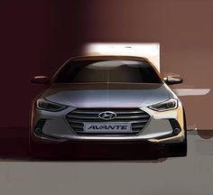 2016 Hyundai Elantra teaser front view