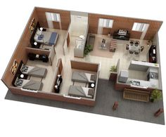 The Home Decor Guru – Interior Design For Bedrooms Small House Layout, House Layout Plans, Small House Design, Dream Home Design, Home Design Plans, House Layouts, Model House Plan, Sims House Plans, Family House Plans