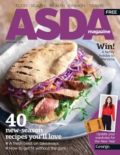 40 new-season recipes you'll love ● A fresh twist on takeaways ● How to get fit without the gym Asda Recipes, Lamb Recipes, Great Recipes, Healthy Recipes, Salmon Burgers, Love Food, Tasty, Meals, January