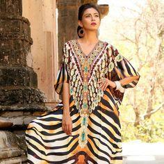 Piece completa Vestido Playa Jeweled mujer longitud Sil de Resort Hermosa Coverup Gorgeous Wear Kaftan One qYUC7w