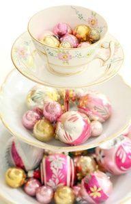 Tea green chandelier - shabby chic blog