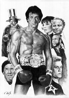 Hollywood Champion of the World - Rocky Balboa Rocky Balboa, Rocky Sylvester Stallone, Stallone Rocky, Rocky Film, Rocky Series, Silvester Stallone, Celebrity Caricatures, The Expendables, Movie Characters