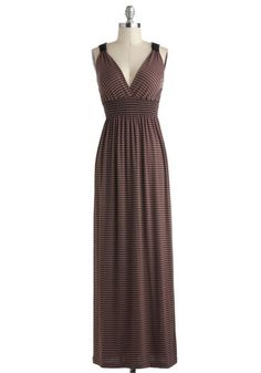 Frozen Hot Cocoa Dress - Long, Brown, Black, Stripes, Casual, Maxi, Tank top (2 thick straps), V Neck
