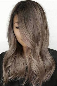 Long Wavy Ash-Brown Balayage - 20 Light Brown Hair Color Ideas for Your New Look - The Trending Hairstyle Brown Blonde Hair, Brunette Hair, Cool Tone Brown Hair, Light Ash Brown Hair, Ash Brown Hair Color, Dark Brown, Black Hair, Dyed Hair Brown, Bayalage Light Brown Hair