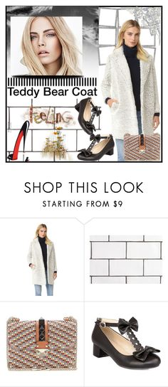 """""""Teddy Bear Coat"""" by jeneric2015 ❤ liked on Polyvore featuring WALL, Valentino, Burberry and teddybearcoats"""
