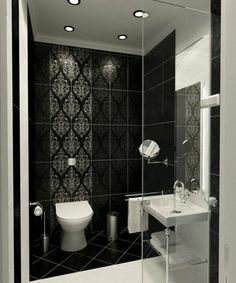 salle de bain blanc et noir, les meilleures idées pour bien aménager une salle de bain 6m2