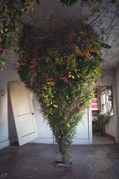 Three-Dozen Floral Designers Transform a Condemned Detroit Duplex with 36,000 Flowers | Colossal