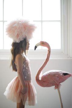 Look into my eyes, look deeply in my eyes... Flamingo Kisses Tutu Dress.