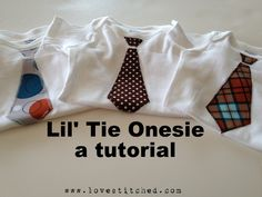 "Lil Tie Onesie Tutorial- @Gildardo Hiedi Pallares this would be perfect for the ""meet the little man baby shower"""
