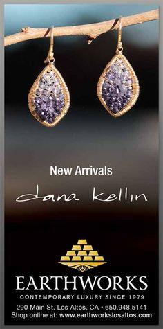 EARTHWORKS ad in SF Chronicle featuring Dana Kellin earrings
