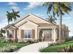 Eplans Mediterranean-Modern House Plan - Four Bedroom Florida - 2336 Square Feet and 4 Bedrooms from Eplans - House Plan Code HWEPL65259