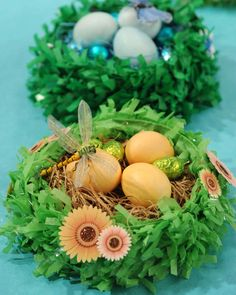 Display your Easter eggs in a beautiful handmade nest to complete your festive decorations.