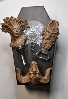 Heathen Gift Set of Wine Accessories by Dellamorteco on Etsy, $75.00