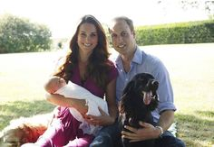 The Duke and Dutchess of Cambridge with their new son...His Royal Highness...Prince George Alexander Louis of Cambridge.