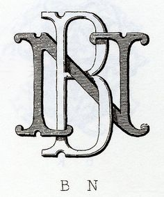 """This elaborate monogram intertwines two letters. Some letters work better than others when combined."""