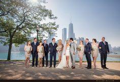 Chicago skyline wedding photos